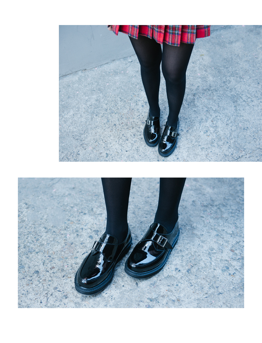 Glossy Monk Shoes|